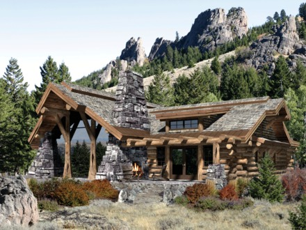 Log Cabin Home House Plans Small Log Cabin Homes