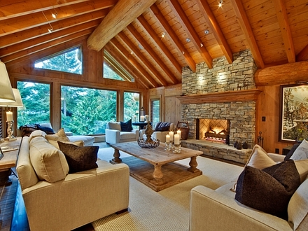 Log Cabin Kitchen Interiors Modern Log Cabin Interior Design