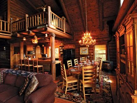 Log Cabin Loft Ideas Cozy Log Cabin Interiors