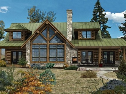 Log Home Floor Plans and Designs Log Ranch Home Plans
