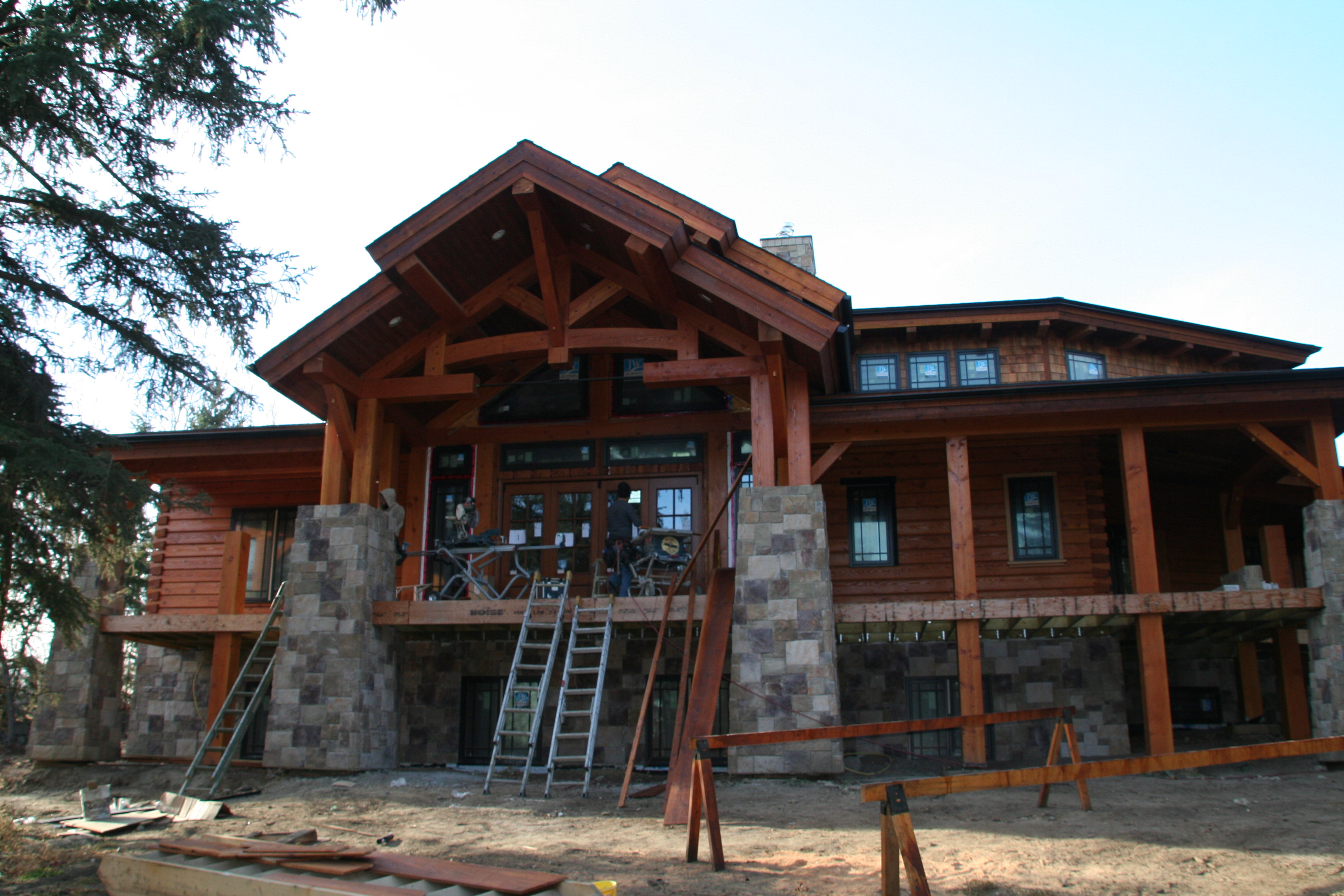 Log home plans single story log home house plans for One story log home plans