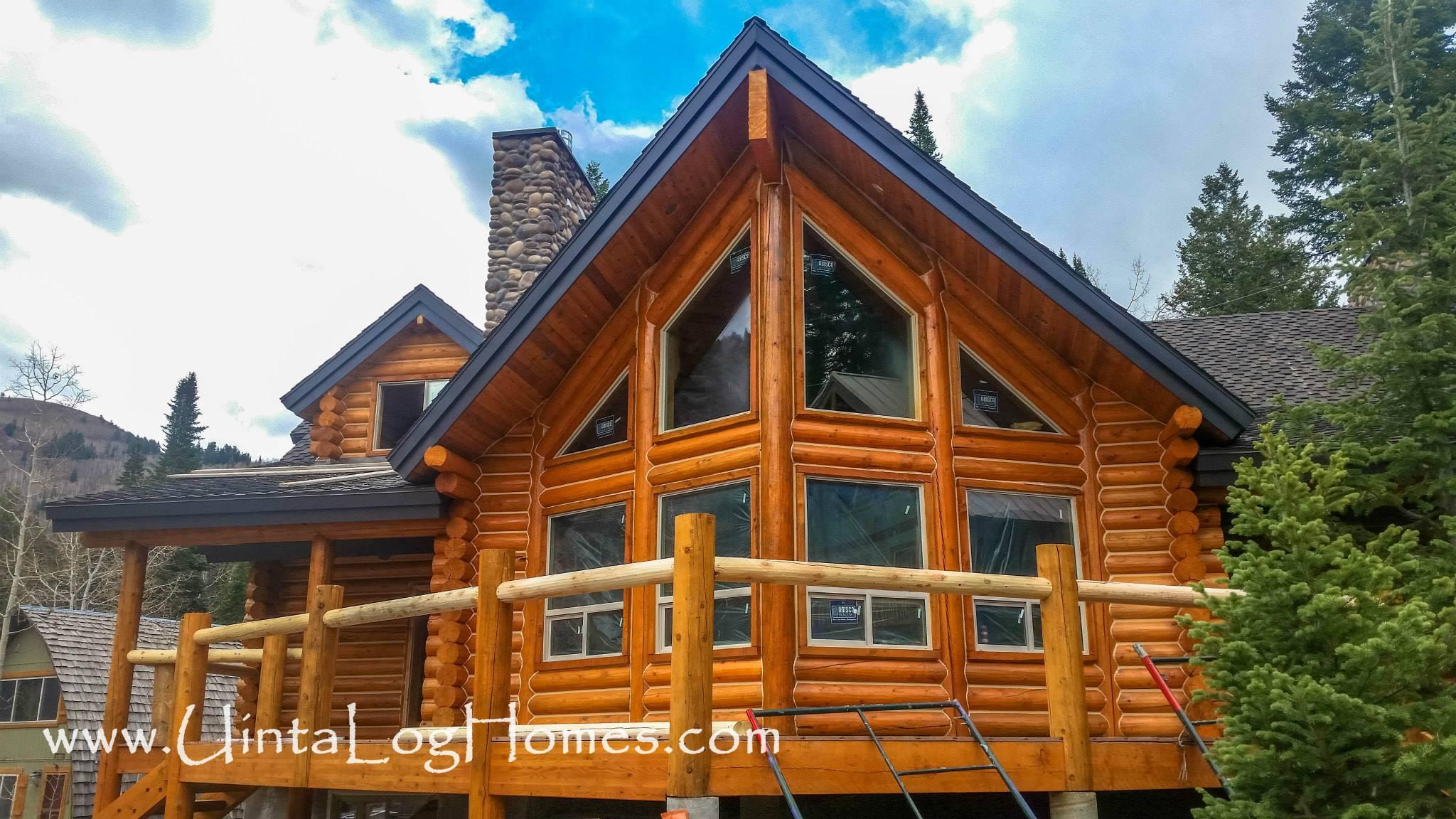 Luxury log home kits small log cabin modular homes luxury for Large cabin kits