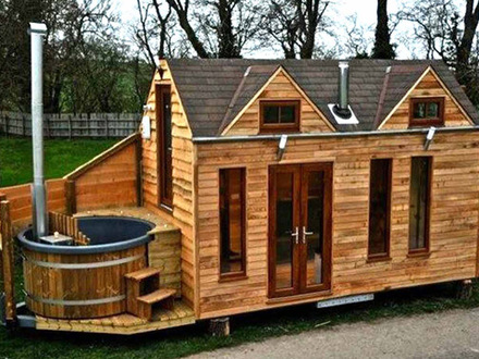 Modern Mobile Log Cabin Small Log Cabin Mobile Homes