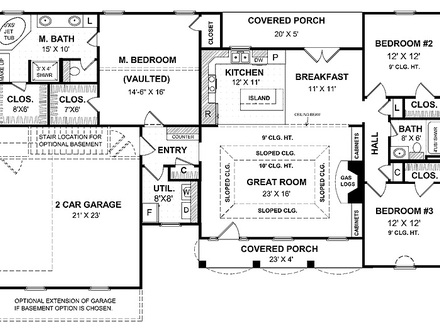 One Story Ranch House Small One Story House Plans