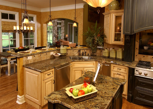 Open Kitchen Designs Photo Gallery Open Kitchen Design with Island and Bar