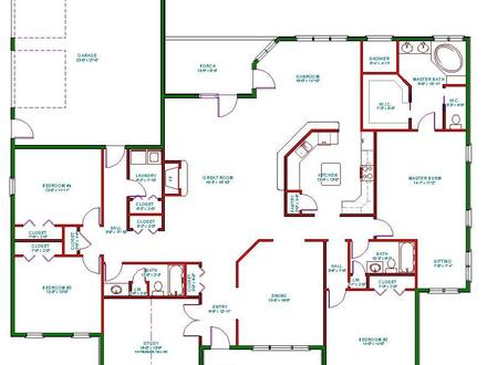 Open One Story House Plans One Story House Plans