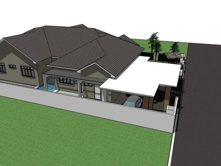 residential: Proposed Single Storey Bungalow at Tanjung Lumpur Bungalow Kitchens