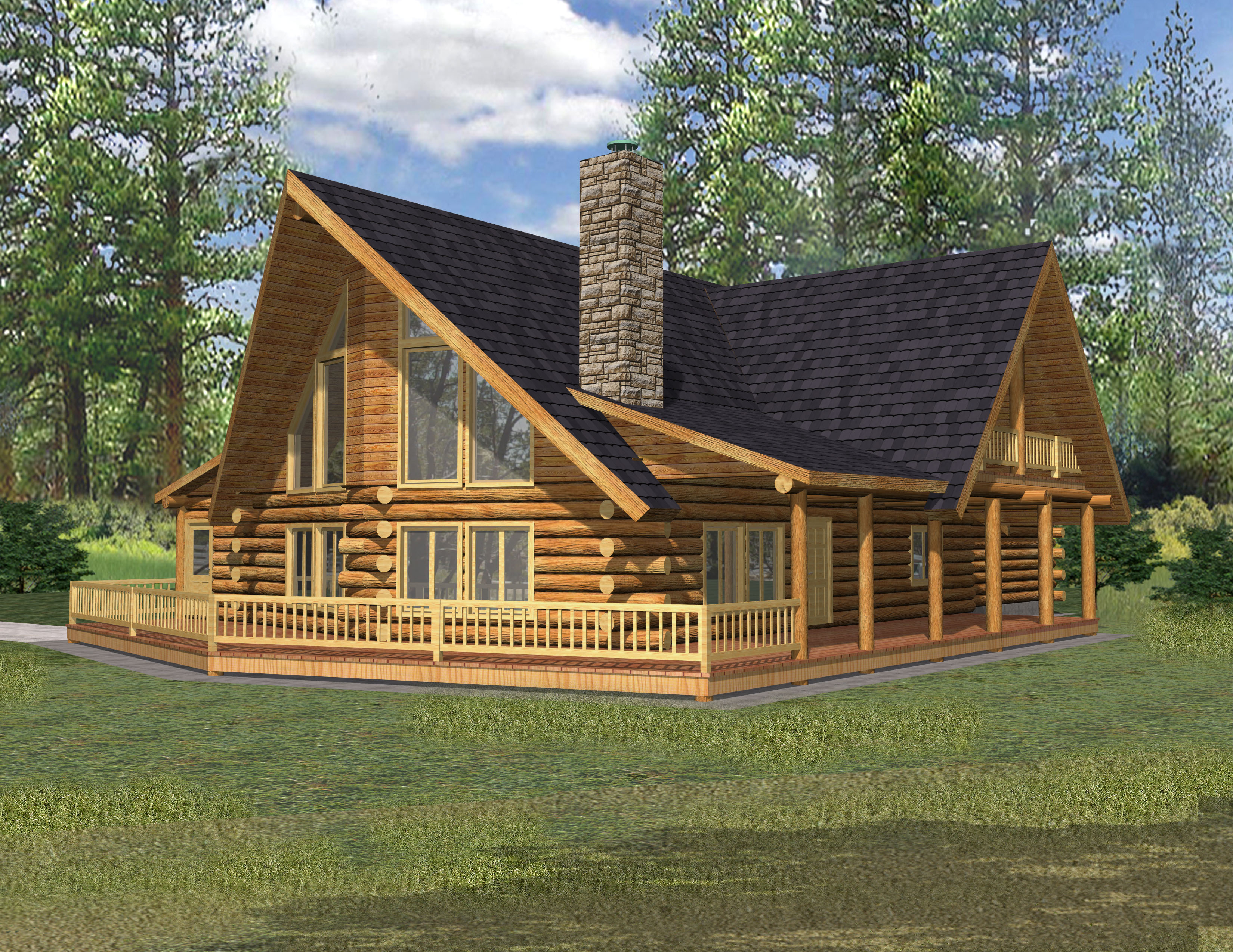 Rustic log cabin home plans rustic cabins in virginia for Virginia house plans