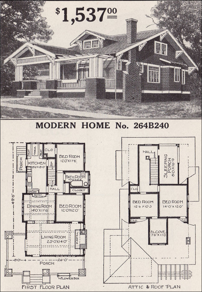 Sears Craftsman Bungalow Home Plans 1923 Sears Craftsman Bungalow Homes