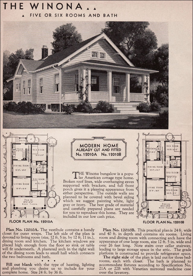 Sears roebuck bungalow house plans sears and roebuck for Craftsman bungalow house plans 1930s