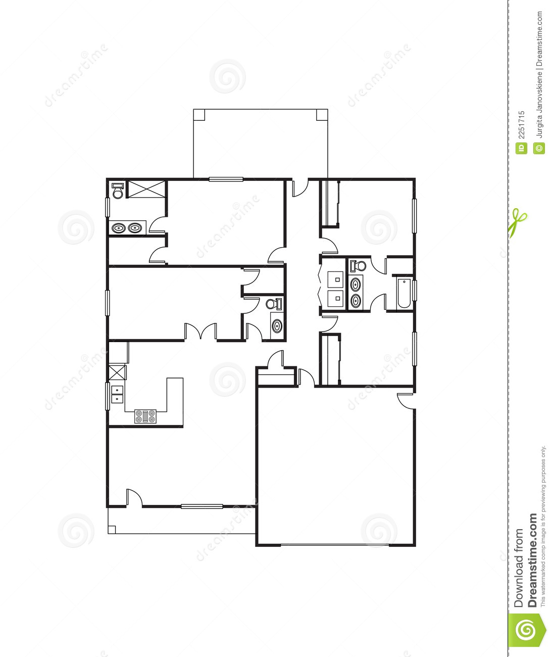 Single family house plans free single floor house plans for Family home floor plans