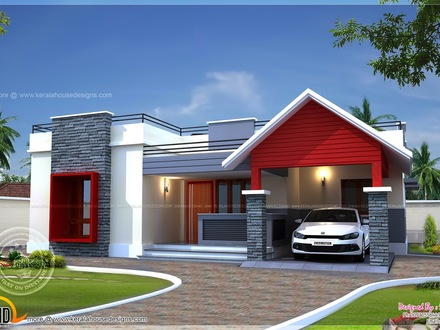Single Floor House Plans Large Rooms Modern Single Floor House Designs