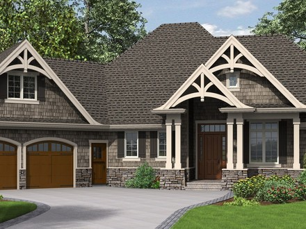 single story craftsman house plans Houses Made Craftsman Ranch