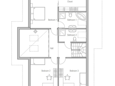 Small two bedroom house plans small affordable house plans for Affordable 5 bedroom house plans