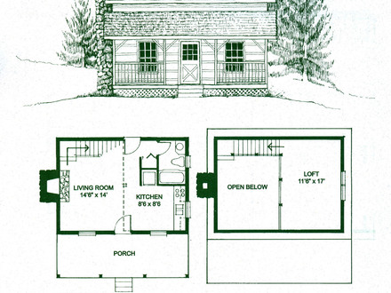 Small Cabin Floor Plans with Loft Simple Cabin Floor Plans