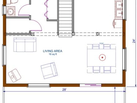 Small cottage house floor plans prefab cottage small for 16x20 cabin floor plans