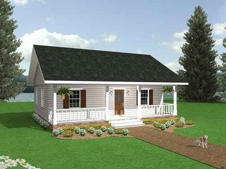 Tiny romantic cottage house plan small country cottage Stone cottage kit homes