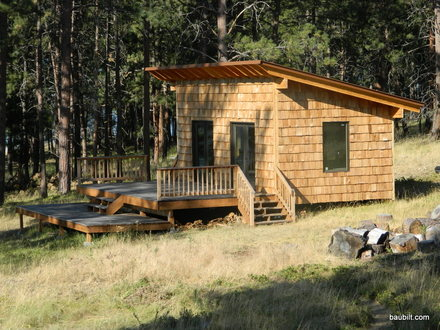 Small Lake Cabin Plans Small Cabin Plans with Shed Roof