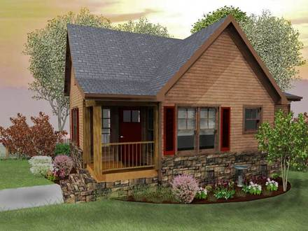 Rustic mountain cabin house plans rustic mountain cabins for 2 bedroom lake house plans