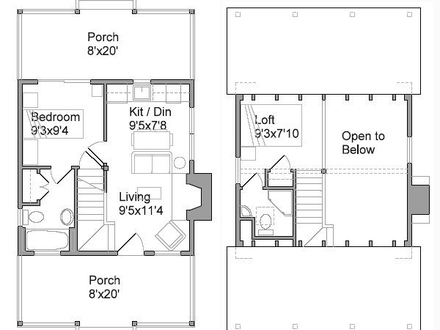 Tiny Houses Floor Plans 3D Tiny Houses Design Plans
