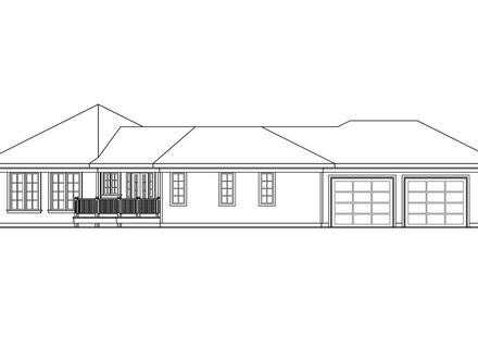 Traditional House Plan Treyburn 10 497 Right Elevation Country House Plans