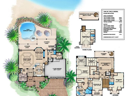 Tropical Island House Plans Hawaii Tropical House Plans