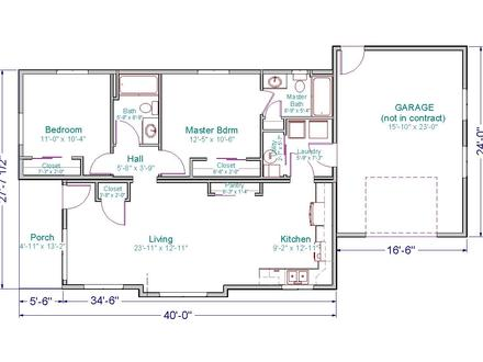 X Ranch Wyoming 24 X 40 Ranch House Floor Plans