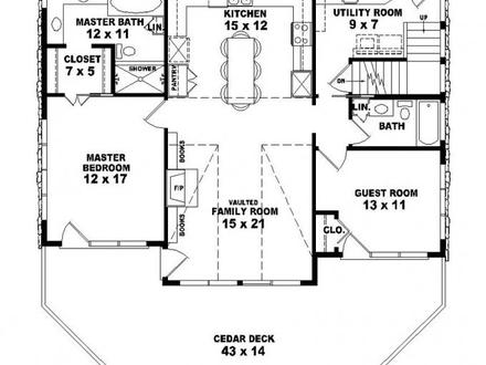 2 Bedroom 1 Bath House 2 Bedroom 1 Bath House Plans