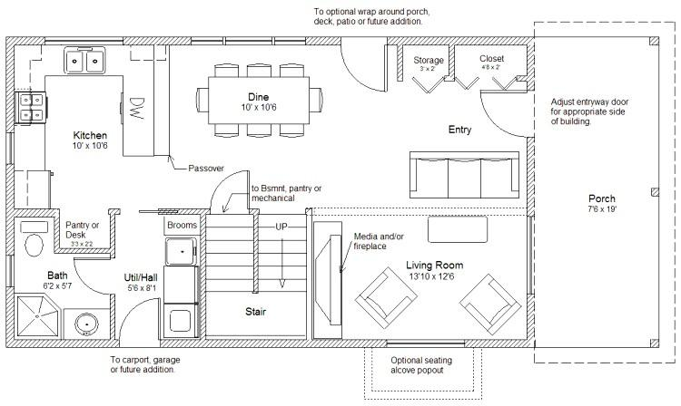 20 X 20 House Plans 20 X 20 2 Story Cabin Floor Plan