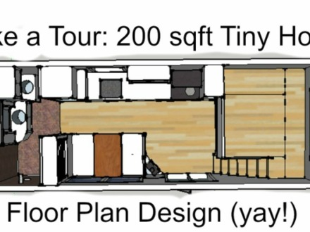 200 Sq FT Tiny House Floor Plans 200 Sq FT Kitchen