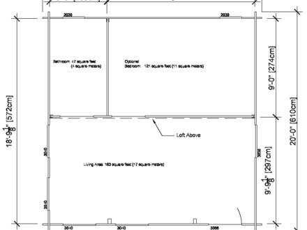 20X20 Cottage Plans 20X20 Cabin Floor Plans