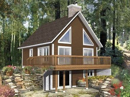 Lake home plans and designs lakefront cottage designs for 30 wide house plans