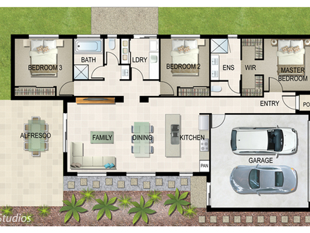 4-Bedroom Ranch House Plans House Plan Gallery