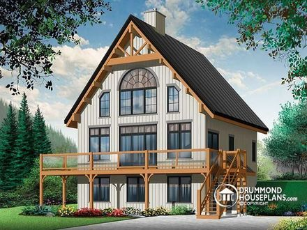 A Frame Chalet House Plans Frame a Small Cabin Plans
