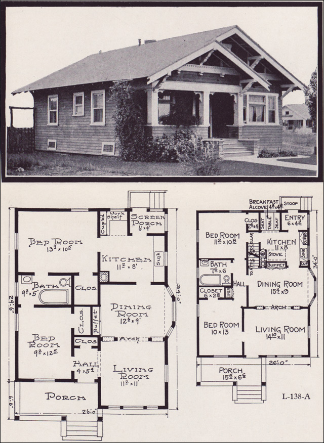 American Bungalow Floor Plans 1920s Bungalow Floor Plans