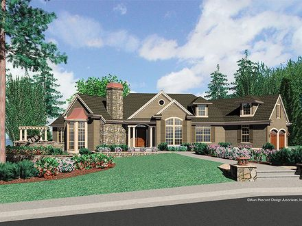 Cainsville House Plan Craftsman House Plans Ranch Style