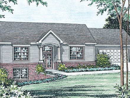 colonial-house-raised-ranch-homes-house-plans-sml-bbc1fc6e548e8404 Raised Ranch House Plans Drive Under Garage on house with basement garage, hillside house plans with drive under garage, contemporary drive under garage,