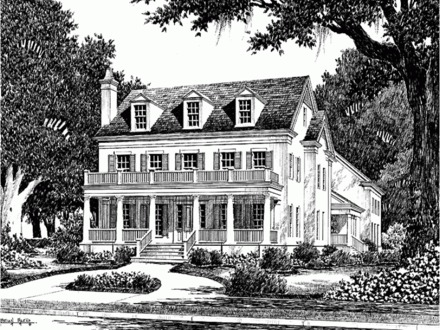 Lake house plans southern living southern living lake for Historic southern home plans
