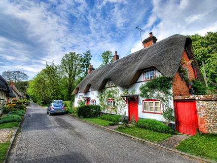 Cottage Houses with Red Roofs Red and Black Tudor House