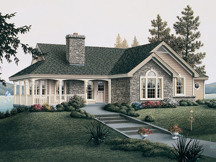 Country Cottage House Plans with Porches Cottage House Plans One Floor