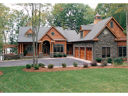 Craftsman House Plans Lake Homes Craftsman House Plans with Walkout Basement