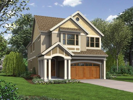 Craftsman Narrow Lot House Plans Narrow Lot House Plans with Garage