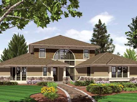 Craftsman Style Homes Prairie Style Homes House Plans