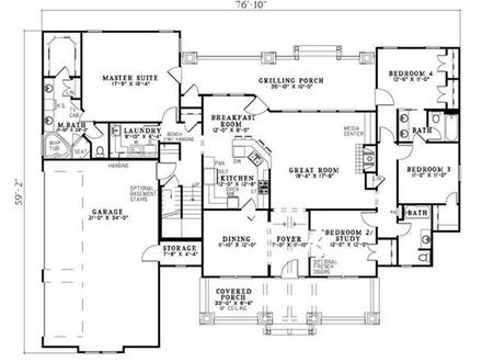 Craftsman Style House Plan Four Bedrooms Plan #153 1020 Craftsman House Plans Small Cottage