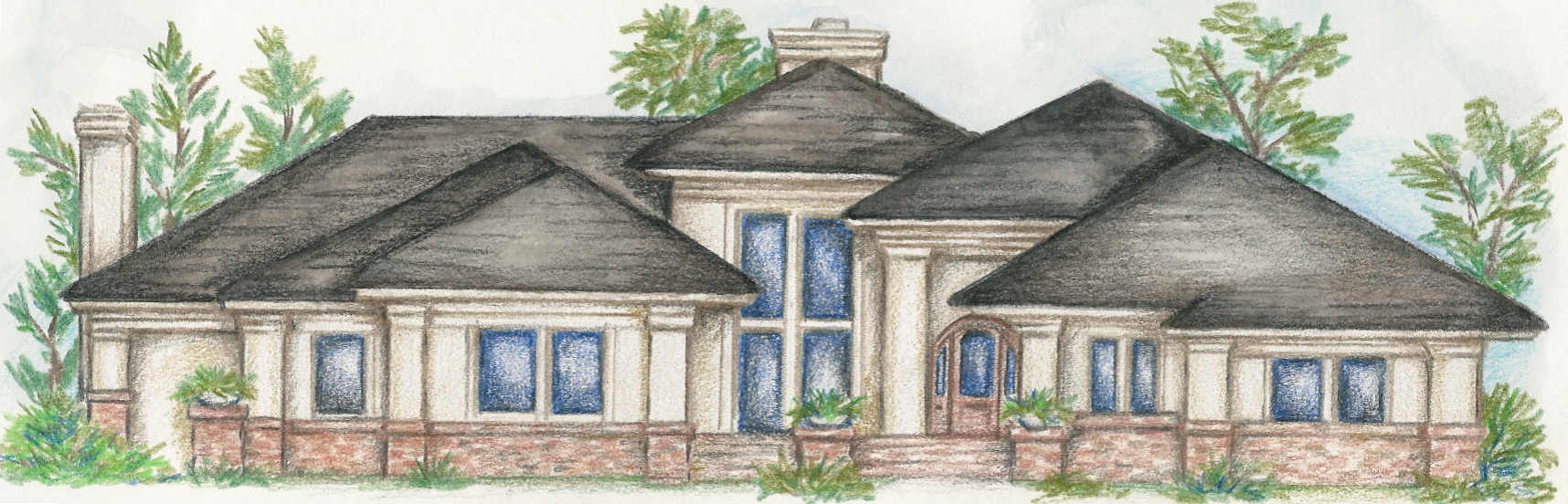 Custom single story home plans one story luxury home for Custom single story homes