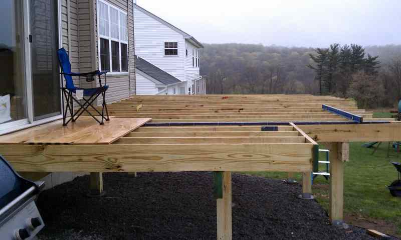 Diy Free Standing Deck Build Free Standing Deck House