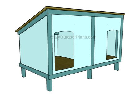Easy Dog House Plans Double Dog House Plans