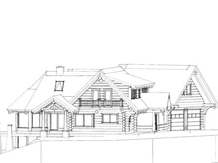 Easy Log Cabins Log Cabin Drawing This nice lake side cabin