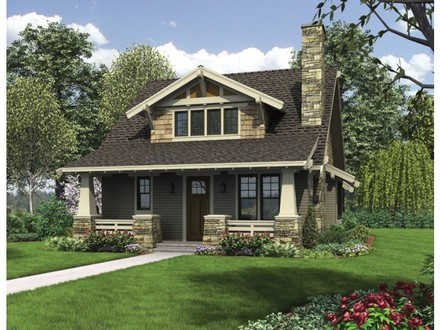 ePlans Bungalow House Plan Classic Craftsman Bungalow With Loft Eplans New American House Plans