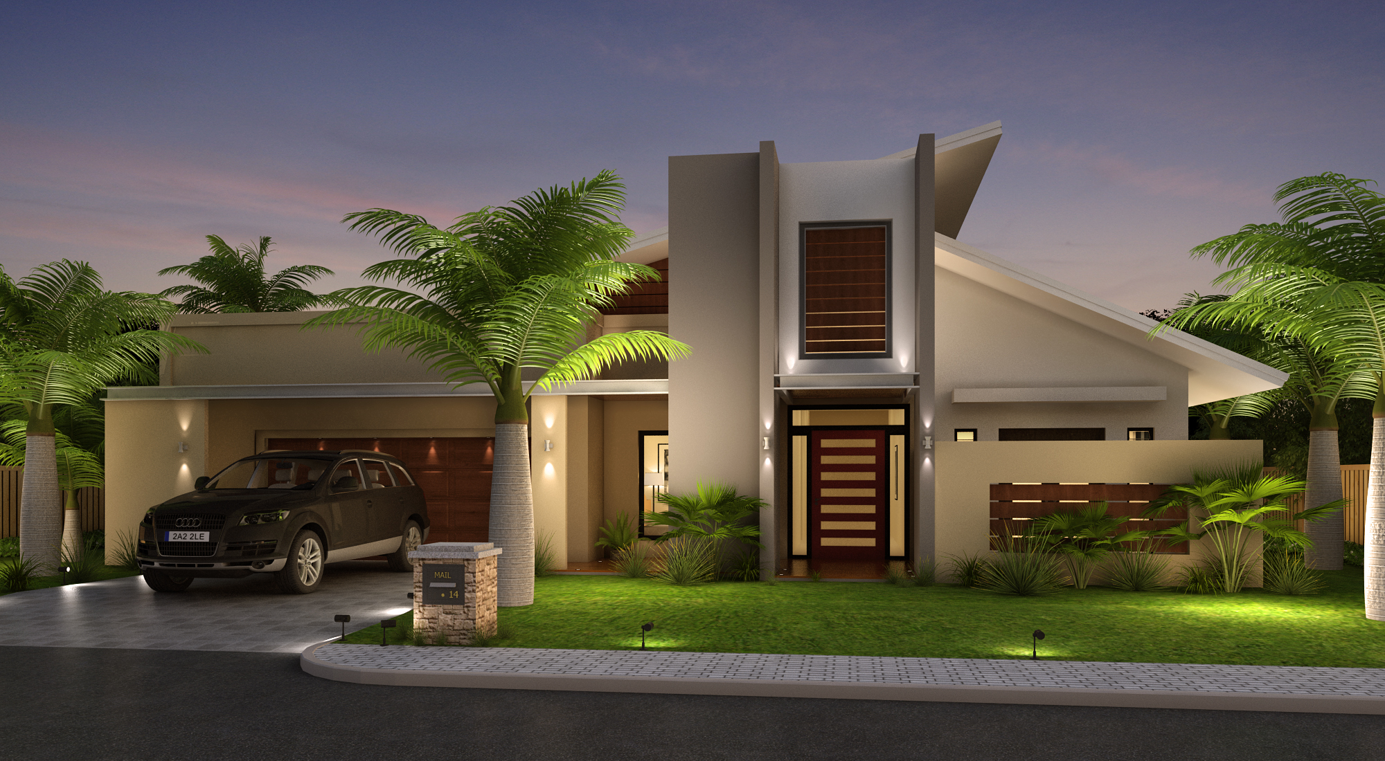 Modern House Front Elevation Drawing : Front house elevation design modern